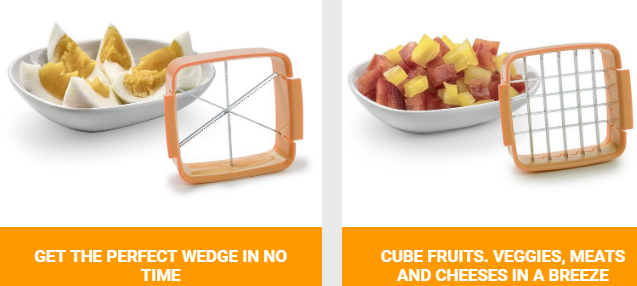 NutriChopper Wedge Blade and Cube Blade