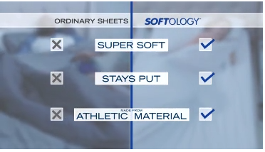 Softology Compared to Ordinary Bed Sheet