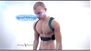 Arrow Posture Triple Strap Support