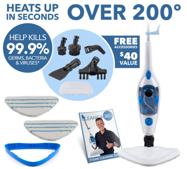 Cleanica 360 Steam Cleaning System Review | Cleanica360.com Reviews