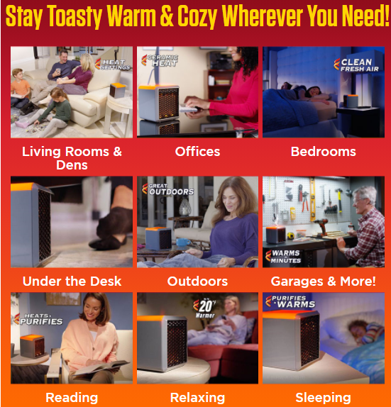 Handy Heater Pure Warmth Uses
